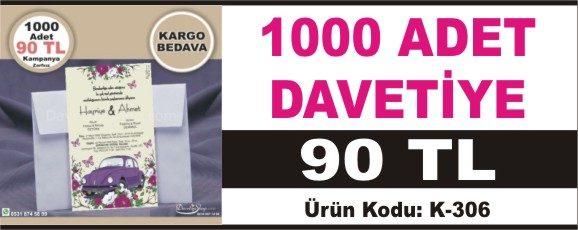 1000 Adet 80 TL Modelleri En Ucuz Davetiye Fiyatları 2018